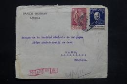 PORTUGAL - Enveloppe Commerciale De Lisbonne Pour La Belgique En 1941 Avec Contrôle, Affranchissement Plaisant - L 25270 - 1910-... République