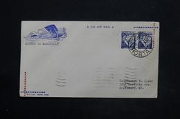 PORTUGAL - Enveloppe Par Avion De Horta Pour Baltimore En 1939, Affranchissement Plaisant - L 25271 - 1910-... République