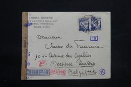 PORTUGAL - Enveloppe Commerciale De Lisbonne Pour La Belgique En 1942 Avec Contrôle, Affranchissement Plaisant - L 25272 - 1910-... République