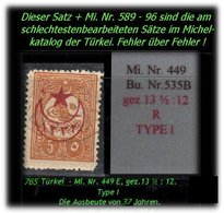 TURKEY ,EARLY OTTOMAN SPECIALIZED FOR SPECIALIST, SEE..aus Mi. Nr. 449 E - Nicht Im Michel -R- - 1858-1921 Osmanisches Reich