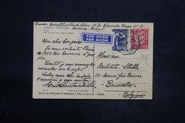 PORTUGAL - Carte Postale De Lisbonne Pour La Belgique En 1936 Par Avion, Affranchissement Plaisant - L 25273 - 1910-... République