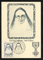 Carte Maximum Premier Jour Lyon Le 23/04/1961 N° 1291 Mère Elisabeth Elise Rivet  Résistante  TB Soldé ! ! ! - Cartes-Maximum