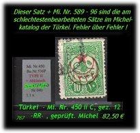 TURKEY ,EARLY OTTOMAN SPECIALIZED FOR SPECIALIST, SEE..aus Mi. Nr. 450 II C -R- - 1858-1921 Osmanisches Reich