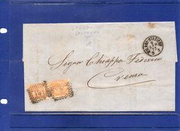##(DAN194)-Italy 1873- Fattura Ditta Lombardi & Macchi-Milano Affrancata Con Coppia Effigie Cent.10 Varietà Di Stampa - 1861-78 Vittorio Emanuele II