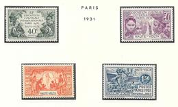 HAUTE VOLTA - N° 66 à 69 NEUF ** - COTE = 27.30 € - Upper Volta (1920-1932)