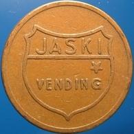 KB224-1 - JASKI VENDING - Hilversum. - Bz 20.0mm - Koffie Machine Penning - Coffee Machine Token - Firma's