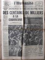 Journal L'Humanité (7 Sept 1964) Fête De L'Huma - Juliette Gréco - 1950 - Today