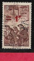 Perfin FRANCE  Perfore  VF 27    Indice  1 - Perfins