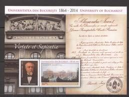L239 2014 ROMANIA ARCHITECTURE UNIVERSITY OF BUCHAREST 1BL MNH - Autres