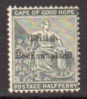 Bechuanaland 1884 ½d Grey-black Overprint On Cape Of Good Hope, Wmk. Anchor, Unused, SG 4 (BA2) - Bechuanaland (...-1966)