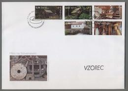 C4489 SLOVENIA FDC 2016 MLINI NA SLOVENSKEM ExtraGrand Envelope - Slovenia