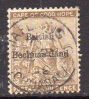 Bechuanaland 1884 2d Pale Bistre Overprint On Cape Of Good Hope, Wmk. Anchor, Used, SG 6 (BA2) - 1885-1895 Colonie Britannique