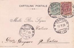 CARTOLINA POSTALE - STRADELLA (PAVIA) NOTICICAZIONE DI MATRIMONIO - VIAGGIATA PER CALCIO ( BERGAMO) - 1900-44 Vittorio Emanuele III