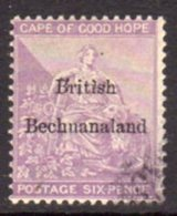 Bechuanaland 1884 6d Red-purple Overprint On Cape Of Good Hope, Wmk. Anchor, Used, SG 7 (BA2) - Bechuanaland (...-1966)