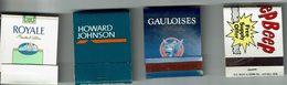 Lot De 4 Pochettes Allum.  Howard Jphnson, Gauloises, Royale, Beep - Boites D'allumettes