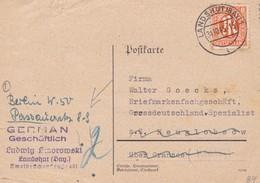 Karte Aus Landshut 1945 - Bizone