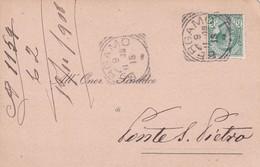 STORIA POSTALE - BERGAMO - CONGREGAZIONE DI CARITA' - VIAGGIATA PER PONTE S. PIETRO ( BERGAMO) - 1900-44 Vittorio Emanuele III