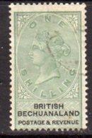 Bechuanaland 1888 1/- Green & Black, Wmk. Script VR, Used, SG 15 (BA2) - Bechuanaland (...-1966)