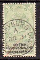 Bechuanaland 1888 2/- Green & Black, Wmk. Script VR, Used, SG 16 (BA2) - Bechuanaland (...-1966)