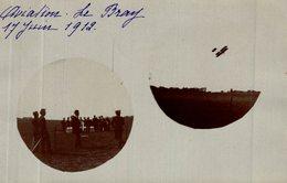 CPA RARE CARTE PHOTO 17 JUIN 1912 LE BRAY AVIATION - Meetings