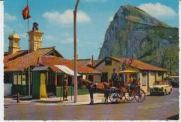 Gibraltar Hackney Horse Carriage Near British Frontier Gate Unused - Gibraltar