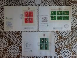 SAN MARINO - 3 BF Olimpiadi Roma 1960 + Spese Postali - FDC