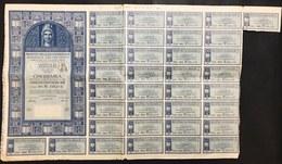 DEBITO PUBBLICO DELLO STATO ITALIANO PRESTITO DELLA RICOSTRUZIONE CARTELLA AL PORTATORE 1947 Doc.080 - Azioni & Titoli
