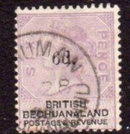 Bechuanaland 1888 6d Overprint On 6d Lilac & Black, Wmk. Orb, Used, SG 26 (BA2) - Bechuanaland (...-1966)