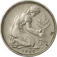 Monnaie, République Fédérale Allemande, 50 Pfennig, 1950, Stuttgart, TTB+ - [ 7] 1949-…: BRD