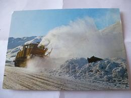 FRANCE : TIGNES (73) Chasse-neige En Action Sur La Route De SUPER-TIGNES - Voir Les Scans - Cartes Postales