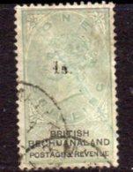 Bechuanaland 1888 1/- Overprint On 1/- Green & Black, Wmk. Script VR, Used, SG 27 (BA2) - Bechuanaland (...-1966)