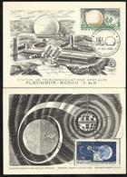 2 Cartes Maximum Premier Jour Pleumeur Bodou 19/10/1924 N°1360 Et 1361 Télécoms Par Satellite Français TB Soldé ! ! ! - Cartes-Maximum