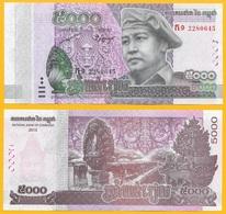Cambodia 5000 Riels P-new 2015 UNC Banknote - Cambodia