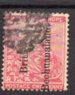 Bechuanaland 1891 1d Carmine, Overprint Reading Upwards, On Cape Of Good Hope, Used, SG 31 (BA2) - Bechuanaland (...-1966)