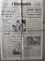 Journal L'Humanité (16 Sept 1964) Unité Syndicats D'enseignants - J Gréco à Bobino - 1950 - Today