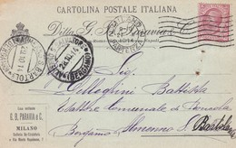 CARTOLINA POSTALE - MILANO - DITTA EDITRICE , G.B. PARAVIA E.C - VIAGGIATA PER ALMENNO S. BARTOLOMEO ( BG) - 1900-44 Vittorio Emanuele III