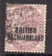 Bechuanaland 1891-4 1d Lilac Overprint On GB, Used, SG 33 (BA2) - Bechuanaland (...-1966)