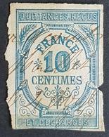 1870, Timbre Quittances Reçus Et Decharges, 10 Centimes, Revenue Fiscal Tax, France - Revenue Stamps