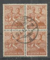 "Allierte Besetzungen Gemeinschaftsausgaben 951a Vierer""24 Pfg.-Briefmarke A.Satz Der 2.Kontrollratsausg.""gest. Mi.:2,00 - Gemeinschaftsausgaben"