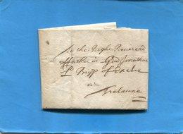 Grande Bretagne-OLD LETTER -1709+-cachet De Cire Au Dos-document Entier Présenté  En Son Pliage D'origine Et Ouverte - Postmark Collection