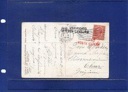 ##(DAN194)-Italy 1918-Cartolina Scultura D.Mastroianni-Giovanna D'Arco Da Milano,timbri Censura E Posta Estera - 1900-44 Vittorio Emanuele III