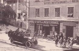 """"""" ça Donne Soif """"- Lucéram (A.M.) Café De La Méditerranée - Taxi & Carrozzelle"""