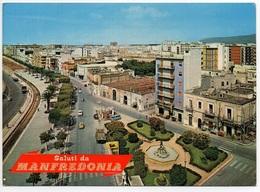 MANFREDONIA Viale Sipontino Oldtimer Auto Tankstelle Esso - Manfredonia