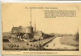 """CPA Nantes Ancien Etude Rétrospective N° 68 """" Vue De La Tour Des Chevaliers Du Papegault En 1761"""" - Nantes"""