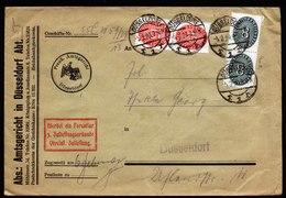 A5970) DR Dienst-Ortsbrief Mit ZU Düsseldorf 05.02.29 - Dienstpost