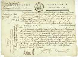 1791 Paris Revolution Quittance Gentil Cholet Conservateur Des Hypotheques Timbre Fiscal - Documentos Históricos