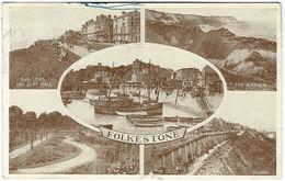 FOLKESTONE Multiview Posted 1953 (Valentine's, 220385) [P0121/5/1D] - Folkestone