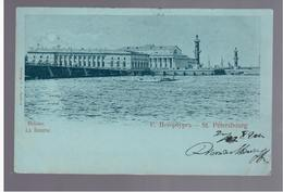 St Petersbourg La Bourse 1901 OLD POSTCARD - Russia