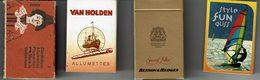 Lot De 4 Petites Btes Allumettes (avec) Fun Glisse, Suisse, Benson Et Van Holden - Boites D'allumettes