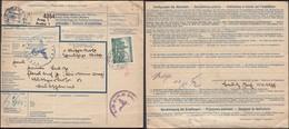 Czechoslovakia - Feldpost Paketkarte, SS-Totenkopfverbände. Boemia Moravia Mi. 57a EF, Prag (Praha) 7.8.1944. - Occupation 1938-45